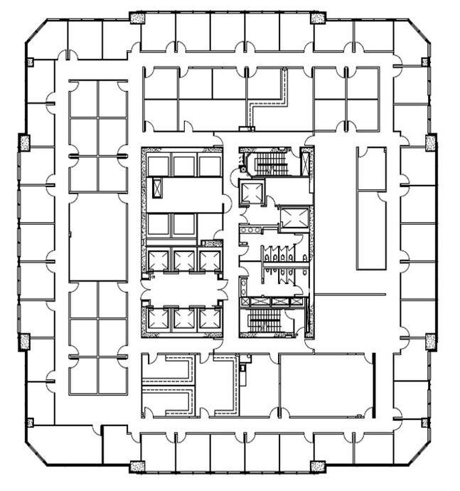 Wells Fargo Tower - 13th Floor Floorplan - Image