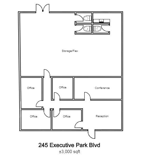 245 Executive Park Blvd. Floor Plan - Image