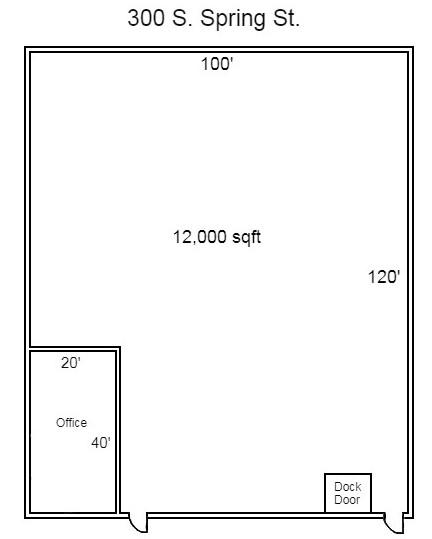 300 S. Spring - Floor Plan - Image